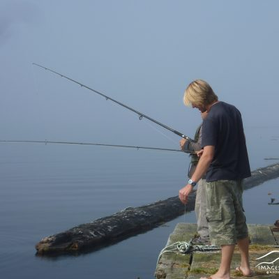 Andy fishes with the locals on Vancouver Island
