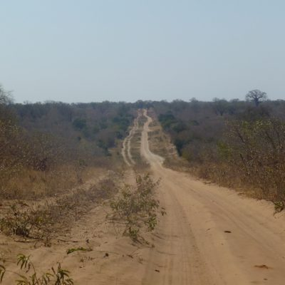 Long dusty track to Chobe, Botswana