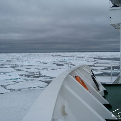 Passage through ice fields in the Arctic